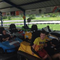 Riding Go Carts with my grandson